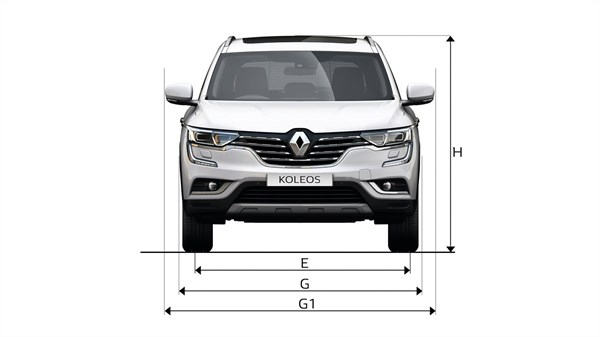 Renault KOLEOS front view with dimensions
