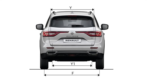 Renault KOLEOS back view with dimensions