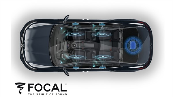 Renault MEGANE Sedan - Focal Music Premium 8.1 speaker pack