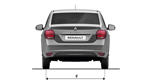Renault SYMBOL - Rear view with dimensions