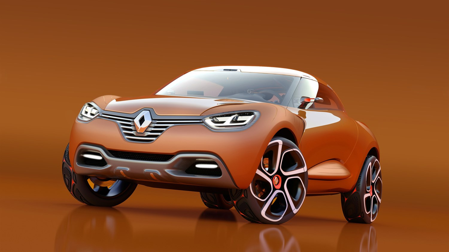 Renault CAPTUR Concept - 3/4 left front end view of vehicle