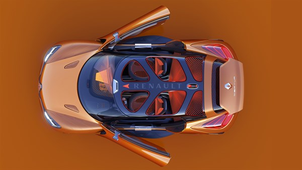 Renault CAPTUR Concept - vehicle seen from above - side doors open