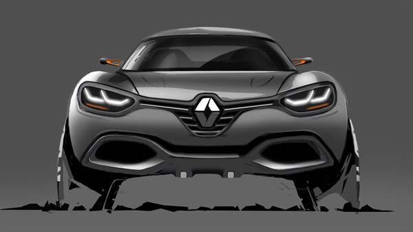 Renault CAPTUR Concept - vehicle sketch - front end view