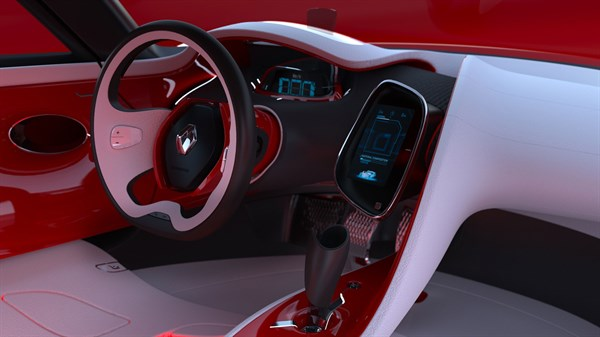 Renault DEZIR concept - close-up of the dashboard