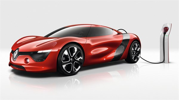 Renault DEZIR Concept - Profile view with electrical charging