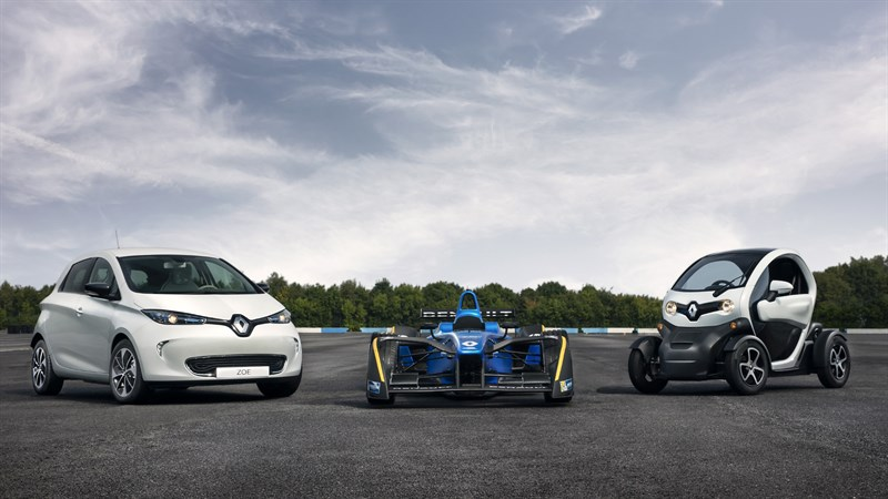 Our electric expertise - Renault ZOE + Formula E + TWIZY